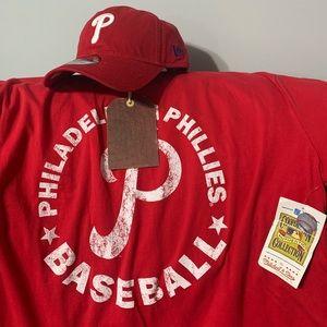 New Era Phillies hat/Mitchell & Ness XL tee shirt